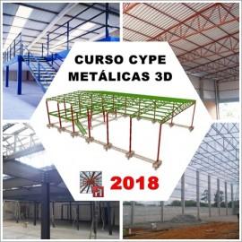 CURSO - CYPE / METALICAS 3D  2018 - ESTRUTURA METÁLICA DE GALPÃO E MEZANINO