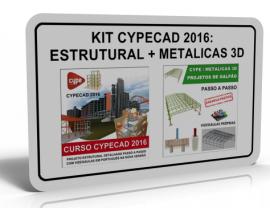 KIT CYPECAD 2016/2017: ESTRUTURAL + METALICAS 3D: GALPÕES