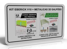 KIT EBERICK V10: ESTRUTURAL + METALICAS 3D: GALPÕES