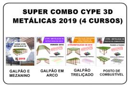 SUPER KIT CYPE / METÁLICAS 3D 2019 (4 CURSOS)