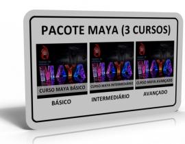 PACOTE MAYA 3D (3 CURSOS)