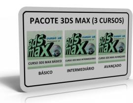 PACOTE 3D MAX (3 CURSOS)
