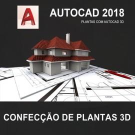 CURSO - AUTOCAD 3D 2018 -  CONFECÇÃO DE PLANTAS