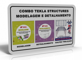 KIT TEKLA STRUCTURES (COMPLETO - 3 CURSOS)