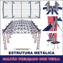 CURSO - MODELAGEM DE GALPÃO TRELIÇADO COM TEKLA STRUCTURES
