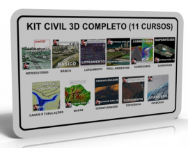 KIT AUTOCAD CIVIL 3D COMPLETO (11 CURSOS)