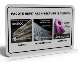 PACOTE REVIT ARCHITECTURE 2015/2016 (3 CURSOS)