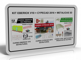 KIT EBERICK V10: ESTRUTURAL + CYPECAD 2016/2017: ESTRUTURAL + METALICAS 3D: GALPÕES