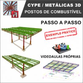 CURSO - CYPE / METALICAS 3D 2019 - POSTOS DE COMBUSTÍVEL