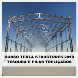 CURSO TEKLA STRUCTURES 2019 - PILARES E COBERTURA TRELIÇADOS  (MODELAGEM E DETALHAMENTO)