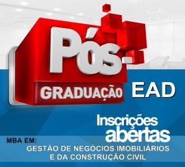 MBA EM GESTÃO DE NEGÓCIOS IMOBILIÁRIOS E DA CONSTRUÇÃO CIVIL (EAD)
