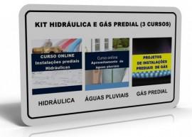 KIT HIDRÁULICA E GÁS PREDIAL (3 CURSOS)