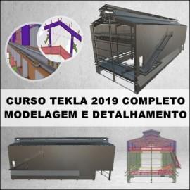 CURSO MODELAGEM E DETALHAMENTO DE GALPÃO INDUSTRIAL COMPLETO COM TEKLA STRUCTURES 2019