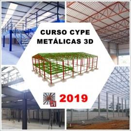 CURSO CYPE / METALICAS 3D 2019 - ESTRUTURA METÁLICA DE GALPÃO E MEZANINO